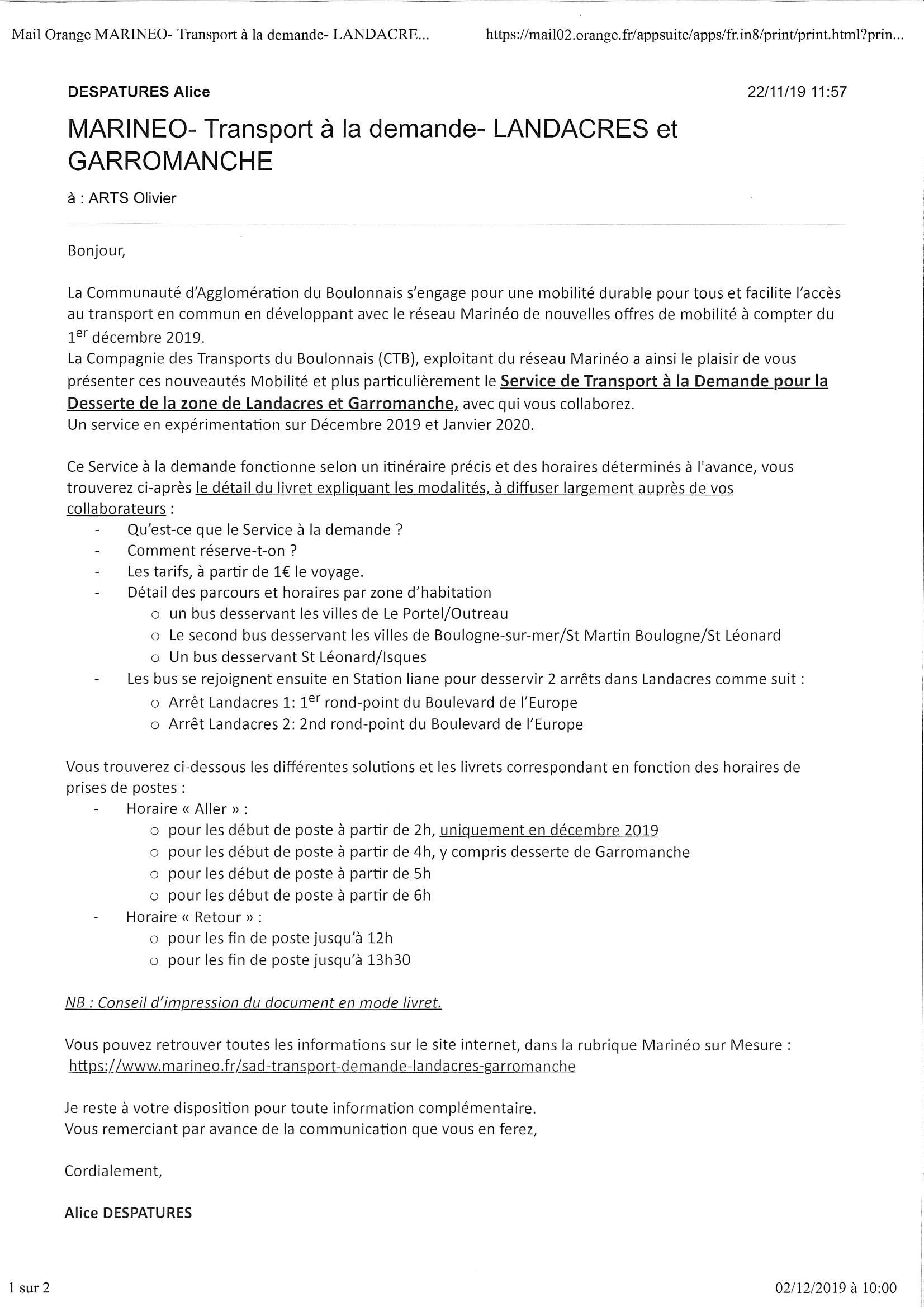 Marineo - Landacres et Garromanche