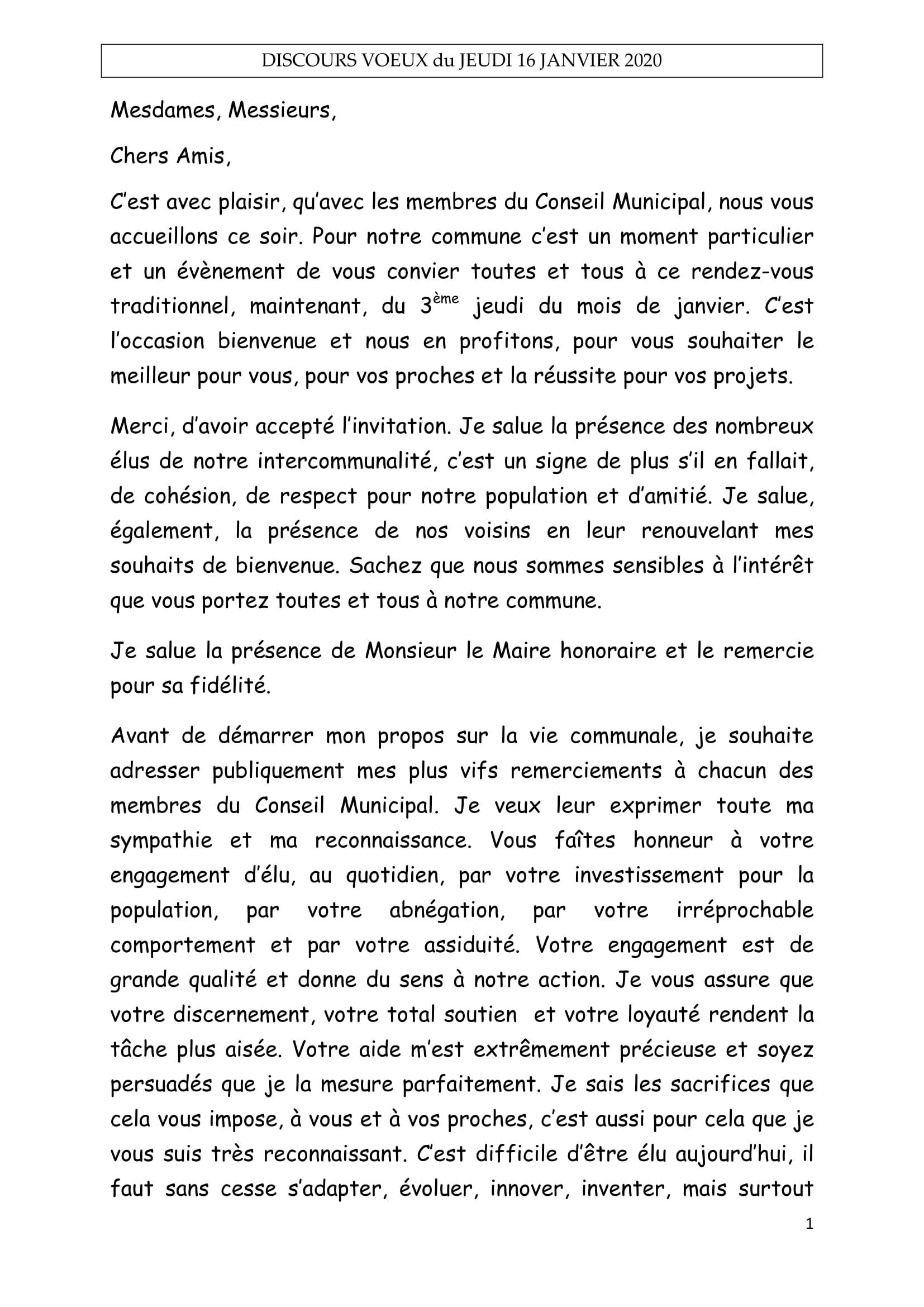 DISCOURS VOEUX du JEUDI 16 janvier 2020 site Isques-1