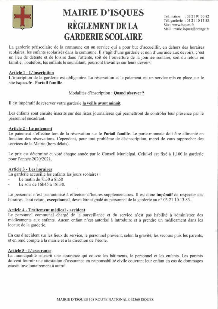 Réglement garderie 2020 (1)